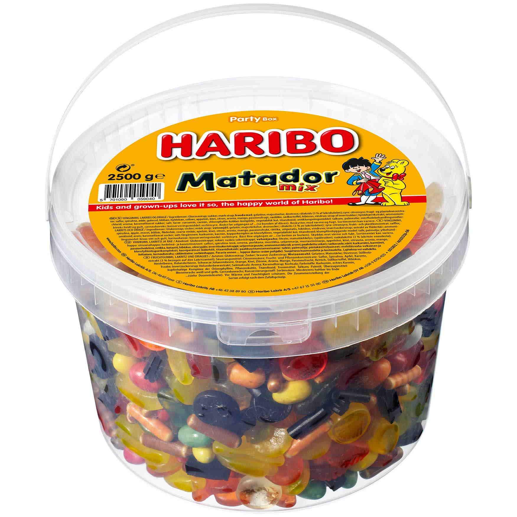 Vellidte Haribo Matador Mix 2,5 - Grænsehandel til billige priser II-08